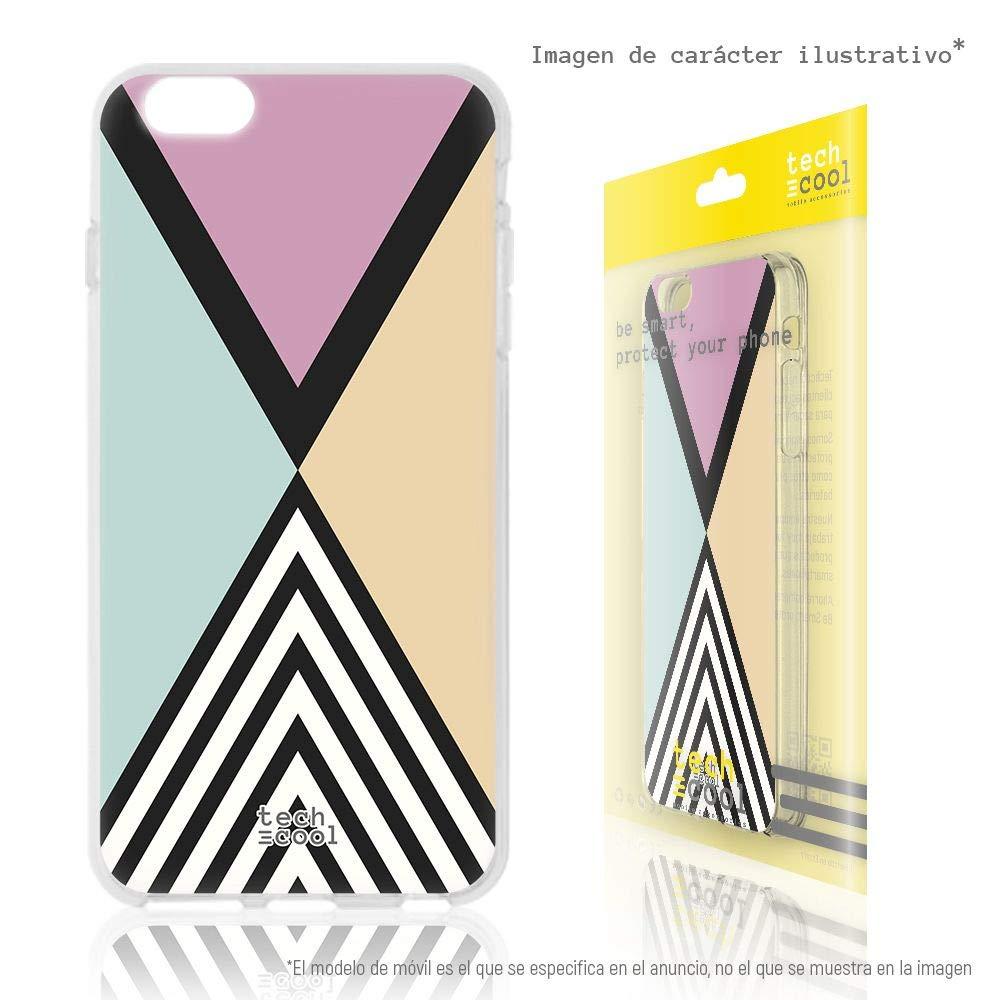 Vers.2 Gel Silicona Flexible, Dise/ño Exclusivo Dise/ño Geom/étrico Fondo Funnytech/® Funda Silicona para Xiaomi Mi Note 3