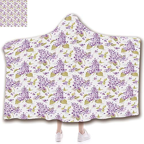 Fashion Blanket Ancient China Decorations Blanket Wearable Hooded Blanket,Unisex Swaddle Blankets for Babies Newborn by,Love Natural Beauty Icons Nostalgic Soft Plants,Adult Style Children Style ()