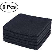 Balacoo Almohadillas de Repuesto para Filtros de Caja de Arena para Gatos Filtros de Carbón de Caja de Arena para Gatitos para El Control de Olores (6. 5 X 6 6 Piezas)