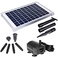 Solariver Solar Water Pump Kit -160+GPH Submersible Water Pump with Adjustable Flow, 12 Watt Solar Panel for Sun Powered Fountain, Pond Aeration (No Battery, Daytime Operation Only)