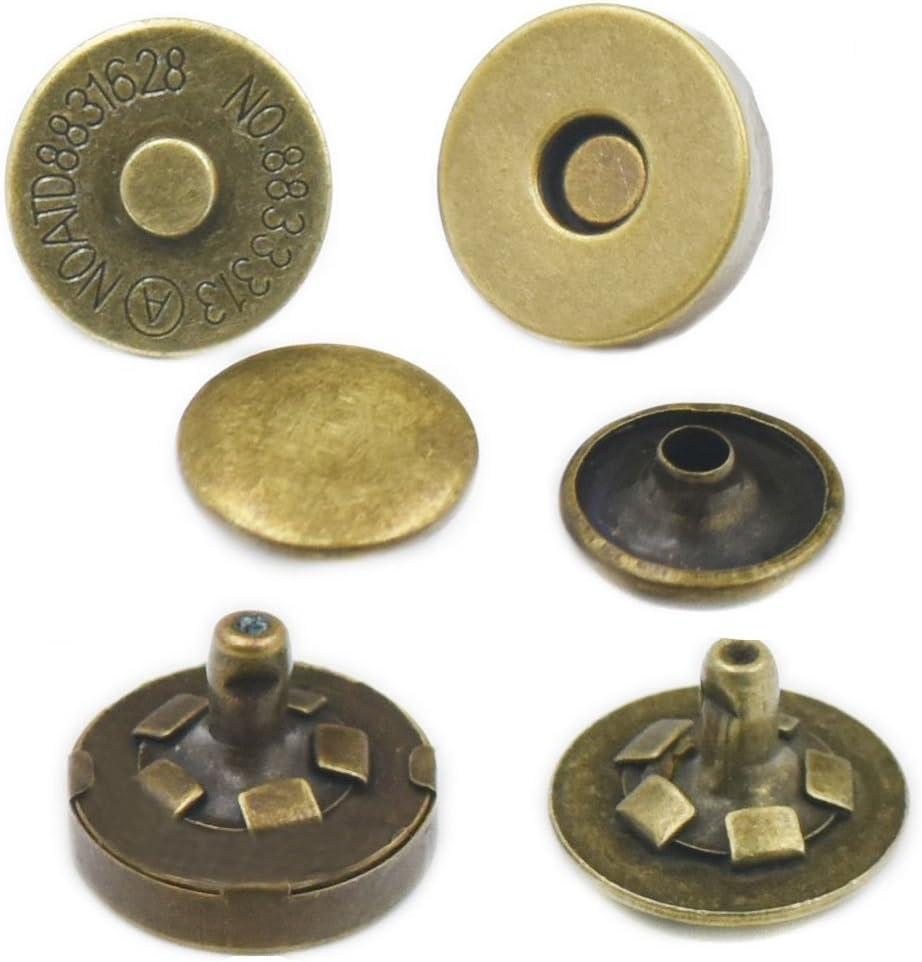 15 Sets 14mm 9//16 bronze Handtaschen Fujiyuan Magnetverschl/üsse 14/mm 18/mm 2-teilige Verschl/üsse f/ür Geldb/örse rund