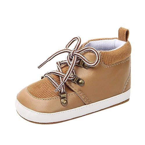 K-youth Botas Niño Invierno Martin Botas de Chicas Chicos Sneaker Patucos  Zapatillas Bebe Zapatos de Bebé Niños Niñas Zapatos Antideslizantes Botines  Bebe ... 2183c7553bf