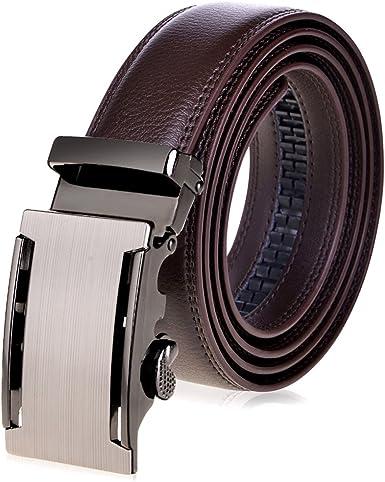 VBIGER Cinturón Cuero Cinturones Hebilla Automática: Amazon.es ...