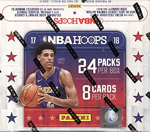 08 Basketball Rookie Pack (2017-18 Panini NBA Hoops Basketball Retail Box 24 Packs of 8 Cards)