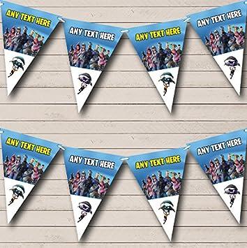 Fortnite Bataille Pass anniversaire fanions fête Banderole Décoration  Guirlande Bannière Décoration Guirlande Guirlande drapeaux Large