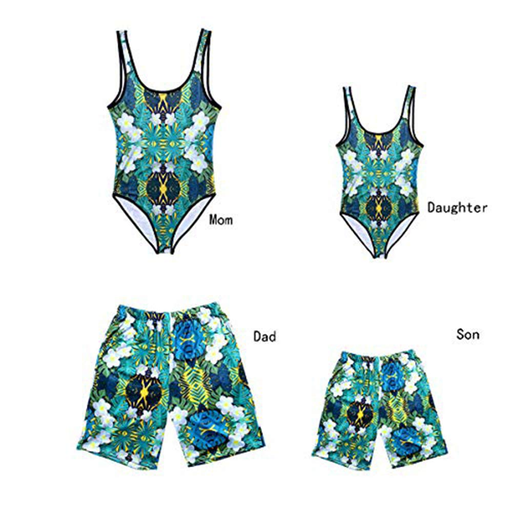 057387f52a Amazon.com: Father and Son Matching Swim Trunks, Mommy and me Swimsuits  Family Bathing Suits: Clothing