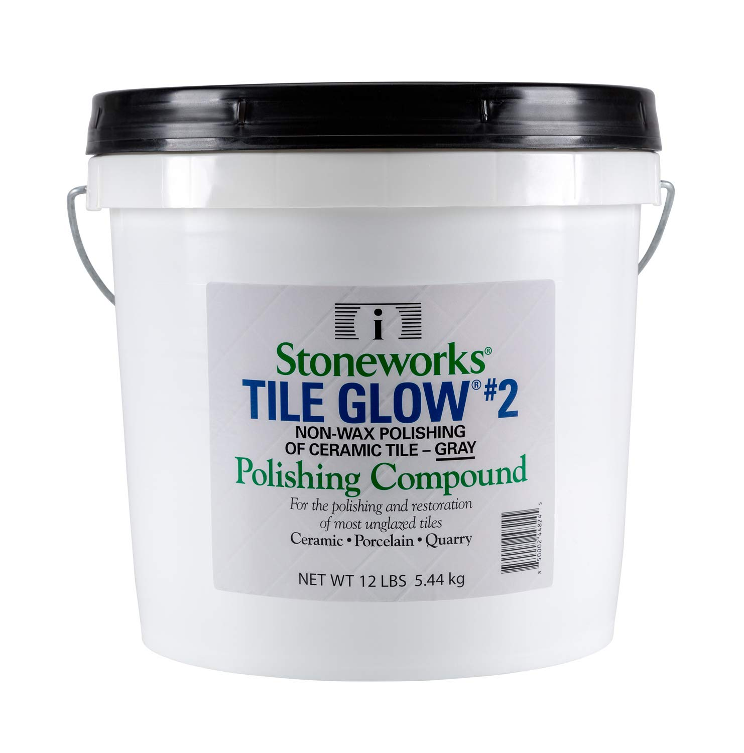 Tile Glow #2 Gray (12 Lb) Natural, Non-Wax Compound for The polishing of Most unglazed Ceramic, Porcelain and Quarry Tiles, which Gives a Long Lasting Finish and Natural Shine to Tiles