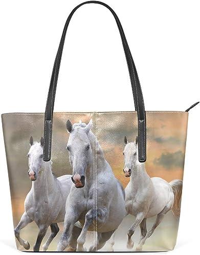 DEZIRO Sac à main à bandoulière pour femme Motif cheval