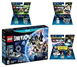 Lego Dimensions Ghostbusters Starter Pack + Peter Venkman Level Pack + Slimer + Stay Puft Fun Packs for Nintendo Wii U Console