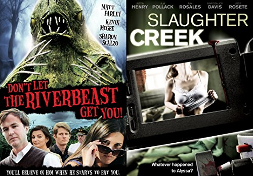 Slaughter Creek + Don't Let the Riverbeast Get You! DVD Movie Double Feature Horror & Suspense & Killing