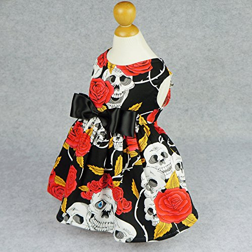 Image of Fitwarm Skull Pet Clothes for Dog Dresses Cat Vest Shirts Red XXS