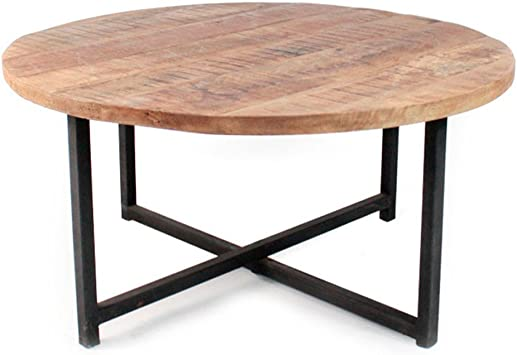 Table Basse Ronde Bois Et Metal O80 Dock Dimensions O80