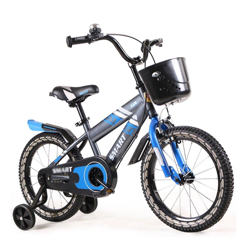 子供の自転車6-7-8-9-10歳の赤ちゃんのキャリッジの男の子と女の子の赤ちゃんの自転車14 16インチ青い赤 B07DYFDZDF 12 inch|青 青 12 inch