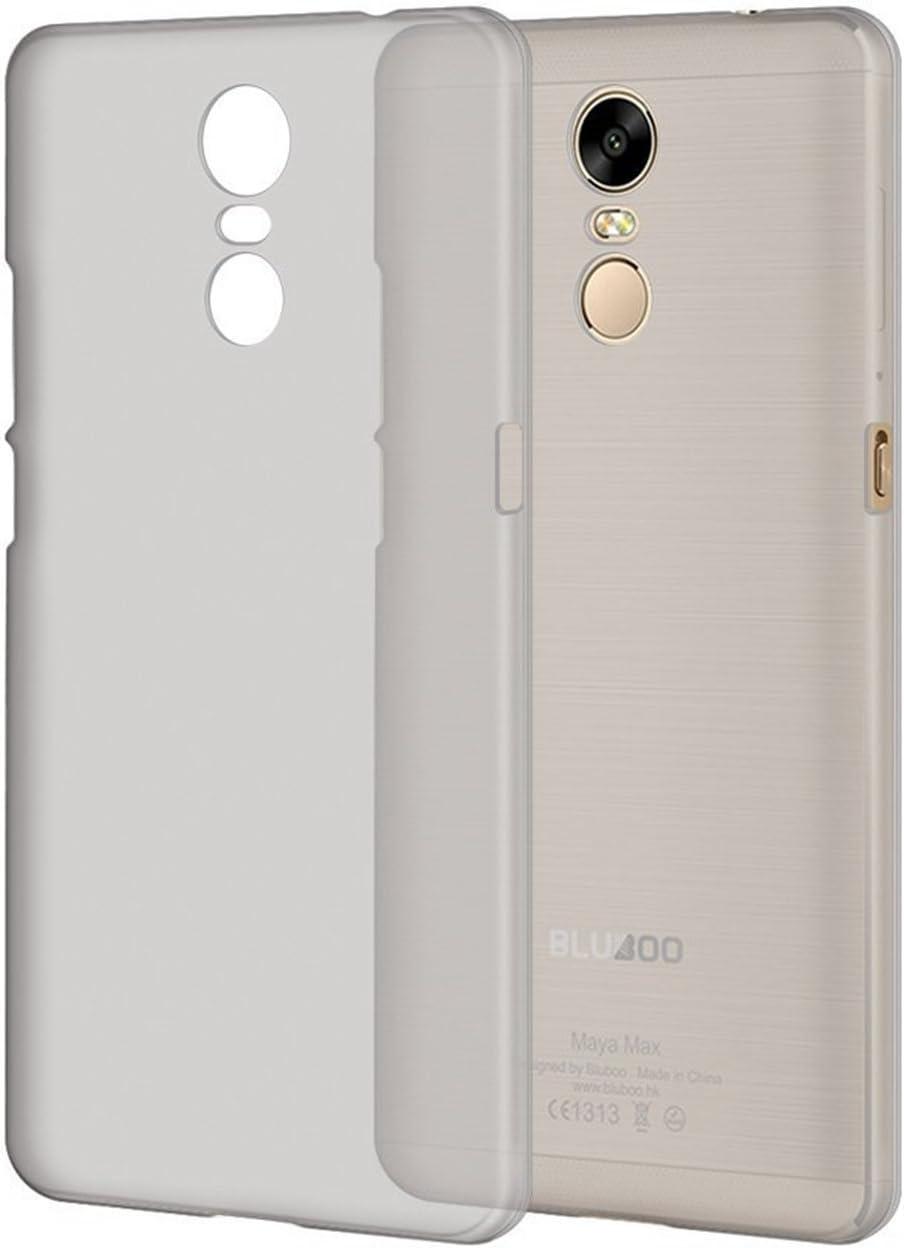 Guran® Plástico Hard Funda Cascara para Bluboo Maya Max Smartphone Bumper PC Case Cover-blanco transparente: Amazon.es: Electrónica
