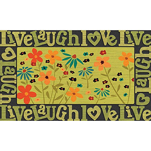 Mat Door Love (Masterpiece Live Love Laugh Wildflowers Door Mat, 18-Inch by 30-Inch)