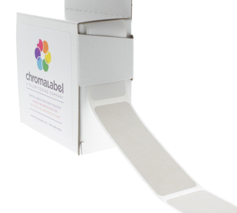 ChromaLabel 1 x 3 inch Color-Code Labels | 250/Dispenser Box (White)