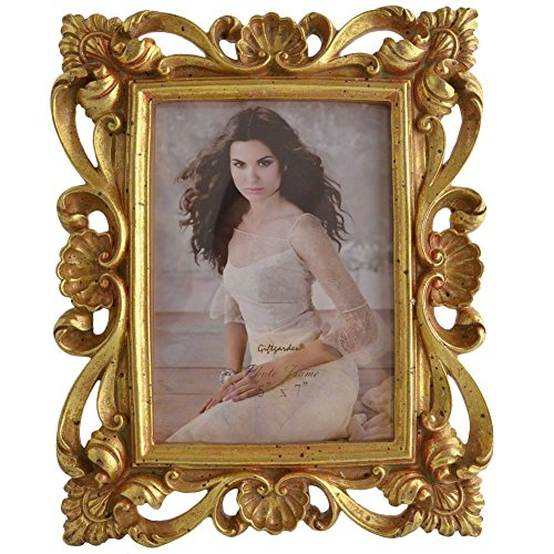 (Giftgarden 5 x 7 Inch Vintage Picture Frame Gold for Photo 5x7)