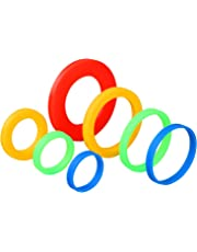Coobey 7 Pairs Silicone Rolling Pin Rings Rolling Pin Spacer Bands Guide Rings 14 Pieces