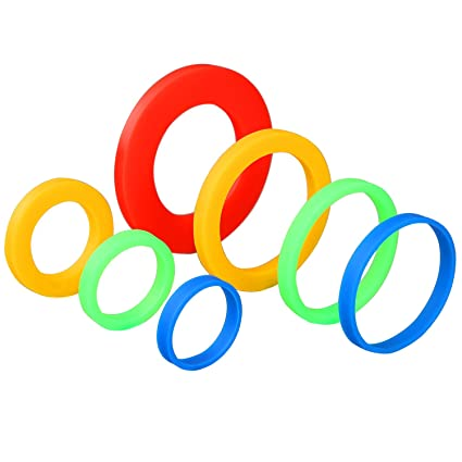 0f5b2e81c Amazon.com: Coobey 7 Pairs Silicone Rolling Pin Rings Rolling Pin Spacer  Bands Guide Rings, 14 Pieces: Kitchen & Dining
