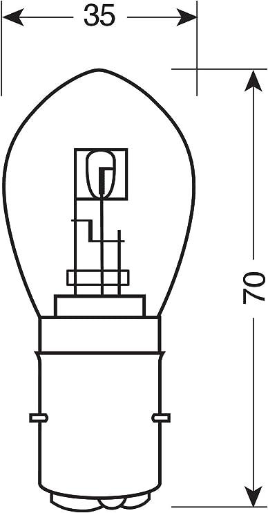 Osram 7327 Lampe S2 12v 35 35w Ba20d 1 Stück Im Karton Auto