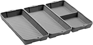 Nonstick Silicone Baking Sheet Pan, ZIP STANDINGSilicone Sheet Pan Set, Siliconebaking trays Dividers, Suitable for oven, air fryer to simplify cooking, Safe to use and easy to clean.(3 gray)