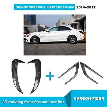 Para Mercedes Benz Clase C W205 C63 AMG 2014 - 2017 mcarcar Kit Scoop con guardabarros delantero parachoques trasero ventilación personalizada cuerpo de ...