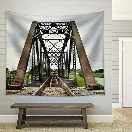 a Train Crossing The Bridge Thailand Fabric Wall