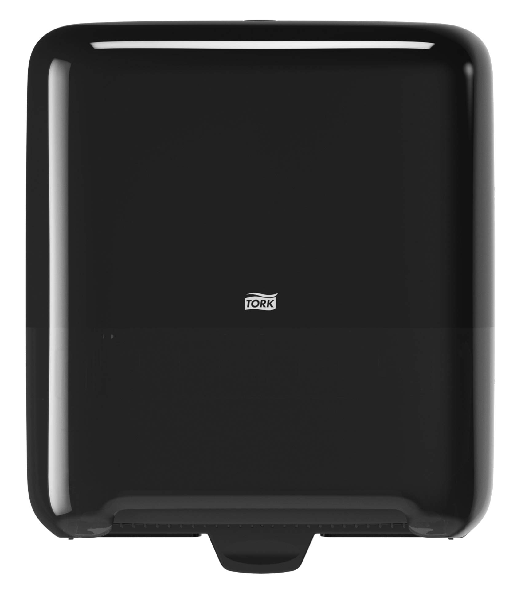 Tork 5510282 Elevation Matic Paper Hand Towel Roll Dispenser, 14.65'' Height x 13.2'' Width x 8.1'' Depth, Black (Case of 1 Dispenser) by Tork (Image #1)
