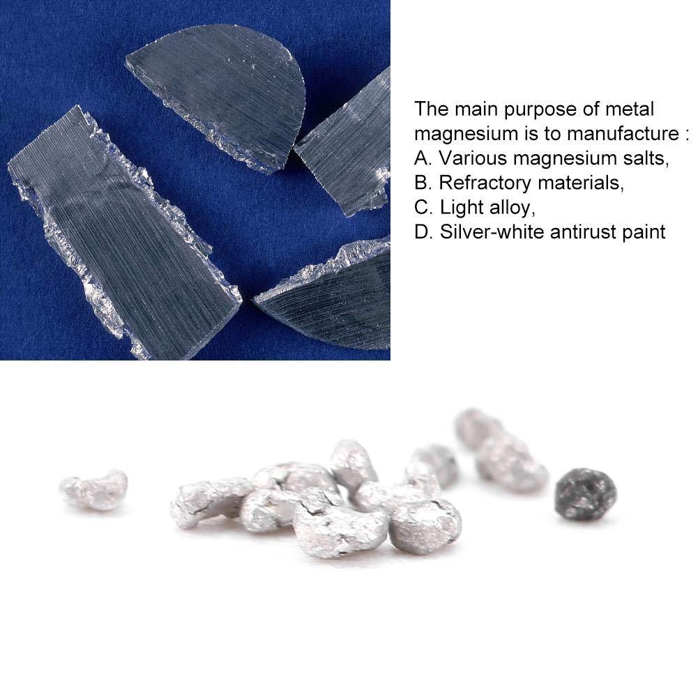 Akozon Magnesio 500 g Mg Granos metálicos gránulos 99.99% para fabricación de aleaciones: Amazon.es: Industria, empresas y ciencia