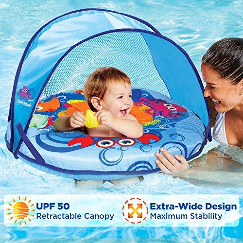 SwimSchool - Toldo autoinflable para barco de bebé, UPF50, ajuste perfecto, asiento ajustable, piscina, 6 a 24 meses, color...