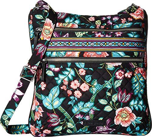 Vera Bradley Iconic Triple Zip Hipster, Signature Cotton, Vines Floral -