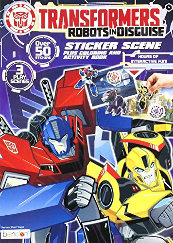 Bendon Transformers Sticker Scene Plus Coloring and Activity