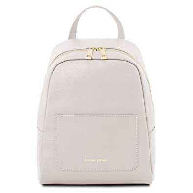 13585d43ab576 Tuscany Leather 81417014 TL BAG - Kleiner Rucksack für Damen aus Saffiano  Leder