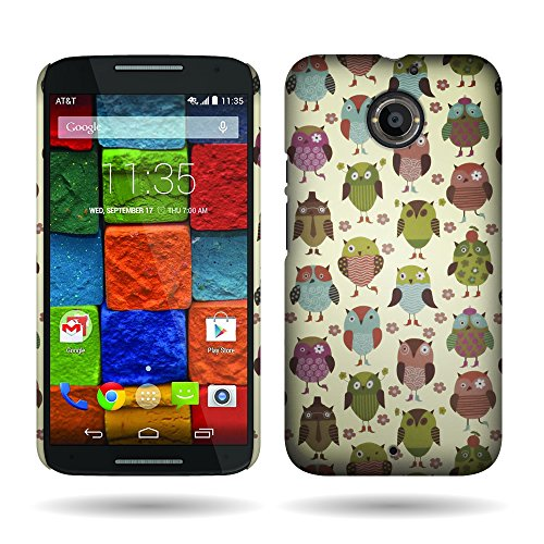 Motorola Moto X (2nd Generation) Case, By CoverON® Fancy Owl Design Case Protective Cover For Motorola Moto X (2nd Gen.) 2014