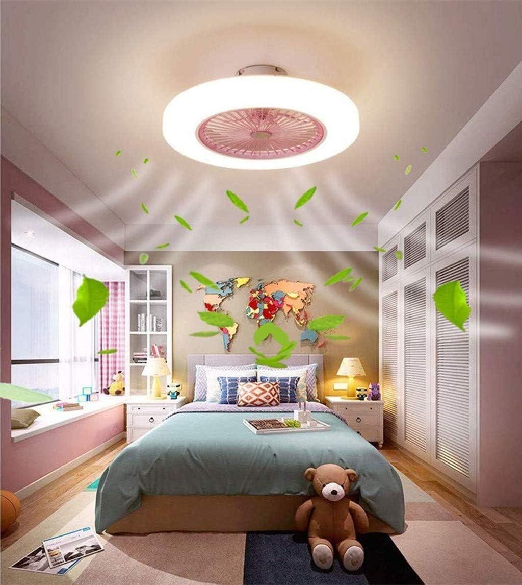 LED Deckenventilator Mit Beleuchtung 72W Deckenventilator Deckenleuchte Mit Fernbedienung 3-Gang Einstellbare Windgeschwindigkeit Schlafzimmer 58CM Unsichtbare Leise Ventilator Kinderzimmer,Blau