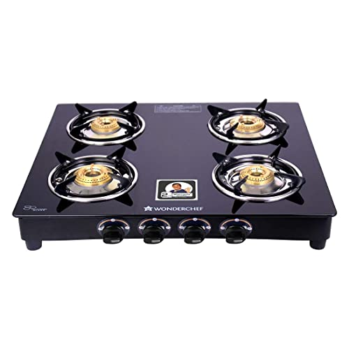 9. Wonderchef  Power 4 Burner Glass Gas Stove