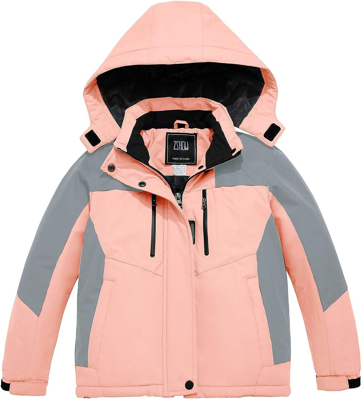 ZSHOW Girls' Waterproof Ski Jacket Warm Winter Snow Coat Fleece Raincoats: Clothing