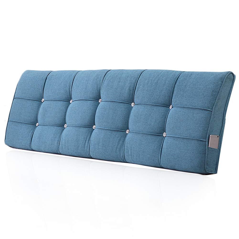 GUOWEI ベッド用クッション 布張り ヘッドボード背もたれサポートなし 6色 5サイズ 120x58x10cm ブルー 120x58x10cm ブルー B07MVHLGW7