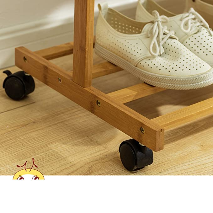Amazon.com: Solid wood coat rack,Floor drying rack simple ...
