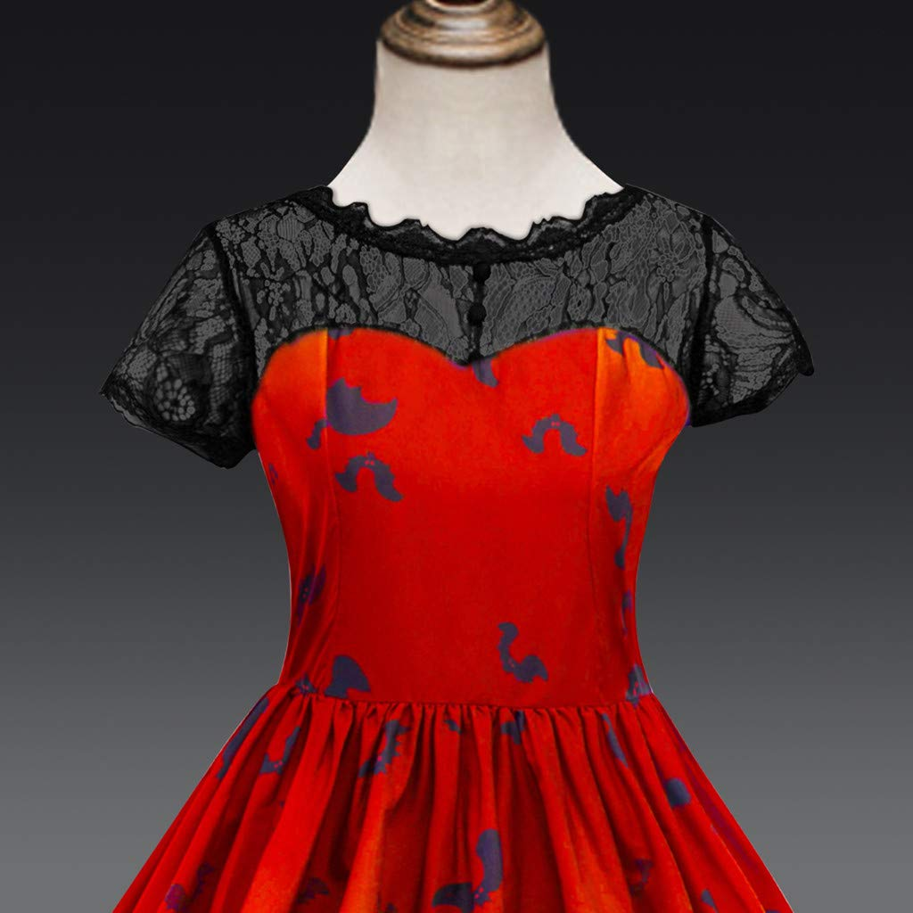 H.eternal Girls Dresses Classy Vintage Floral Swing Dress Halloween Witch Costume Baby Girls Princess Belle Dress Up Mystery Tunic Shirt Dress