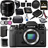 Fujifilm X-T2 Mirrorless Digital Camera (Body Only) 16519247 + Fujifilm XF 56mm f/1.2 R Lens 16418649 Bundle