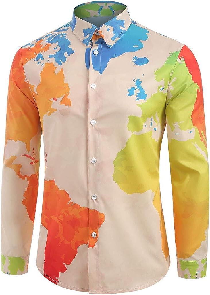 Chevalier - Camisa de Manga Larga para Hombre, sin Planchar, Estilo Slim Fit Naranja XXL: Amazon.es: Ropa y accesorios