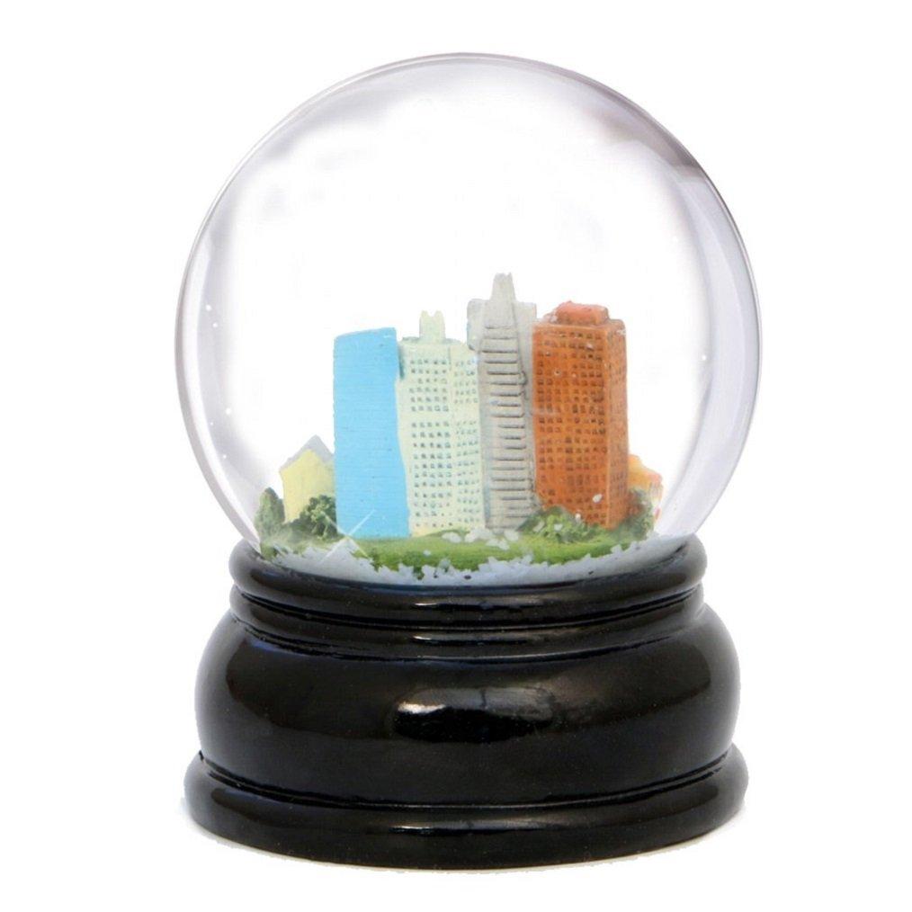 Amazon.com: City-Souvenirs San Francisco Snow Globe Skyline, Trolley ...