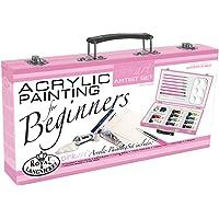 Royal Pink Art Acrylic Painting Beginners Artist Set