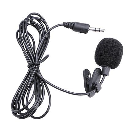 fxco 3,5 mm Clip en Mini micrófono Solapa de corbata Manos Libres ...