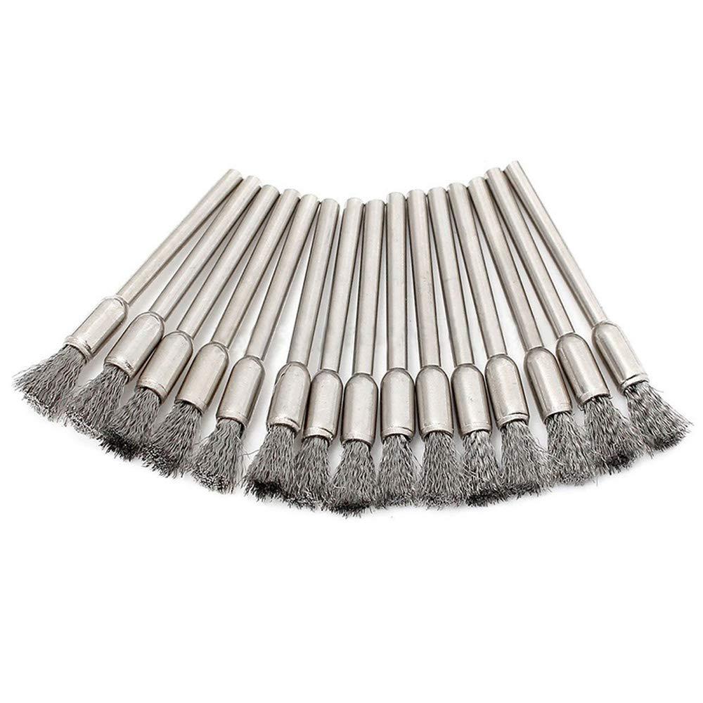 Lukcase 45PC Steel Wire Brush Polishing Wheels Set Wheel Pen Cup Brushes for Dremel Rotary Tools 1//8 Shank