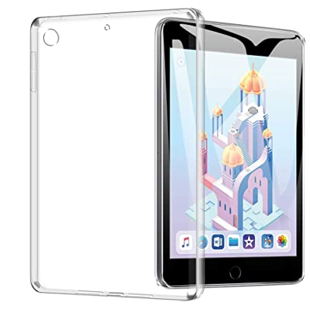 TopACE Hülle für iPad Mini 5/iPad Mini 2019, Ultra Schlank TPU Hülle Schutzhülle Durchsichtig Klar Silikon transparent für iP