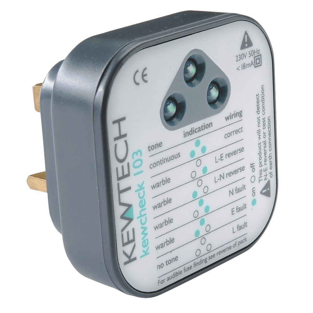 Enjoyable Kewtech Kewcheck103 Mains Wiring Socket Tester Amazon Co Uk Wiring Digital Resources Cettecompassionincorg
