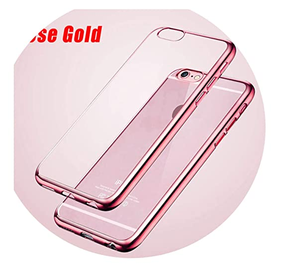 Amazon.com: Luxury Rose Gold Plating Crystal Clear Case for ...