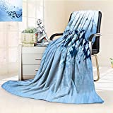 YOYI-HOME Duplex Printed Blanket Ultra-Plush A Glittering and Translucent Snowflake on The Window Warm Microfiber All Season Couch, Outdoor, Travel Use./59'' W by 79'' H